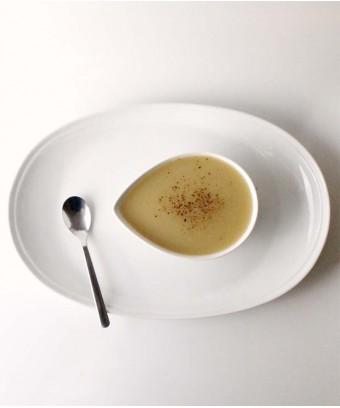 Leek and potato soup (vegan)